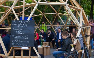 Dome-Talk mit Europa-Aktiven in Wien