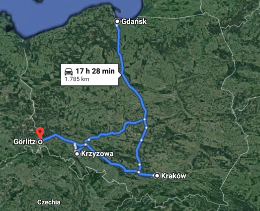 1785 km Polen 